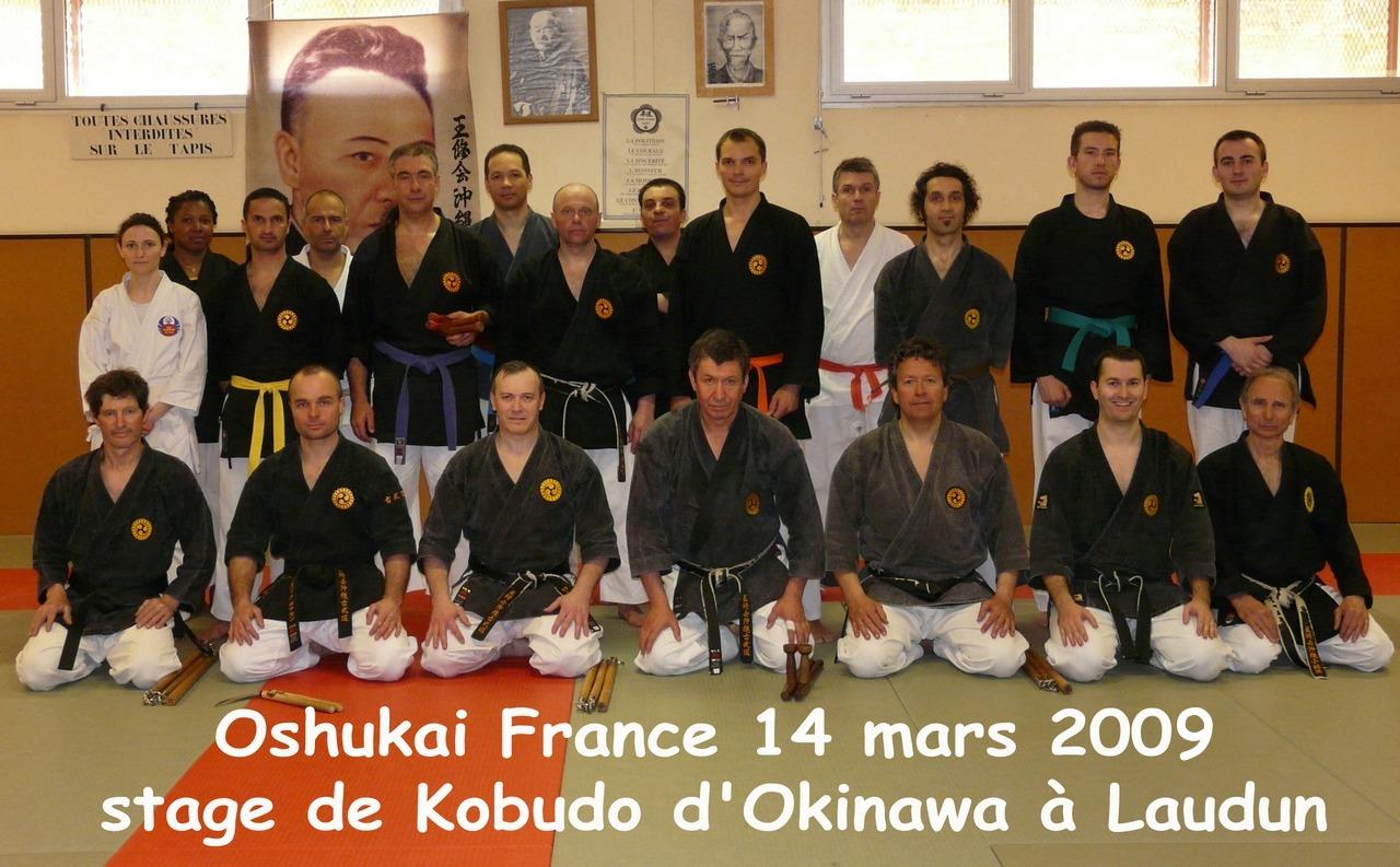 Stage de Kobudo dirigé par Maurice Roggero – Laudun – 14 mars 2009