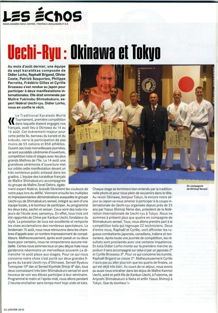 Article sur le Uechi Ryu paru dans Karaté Magazine