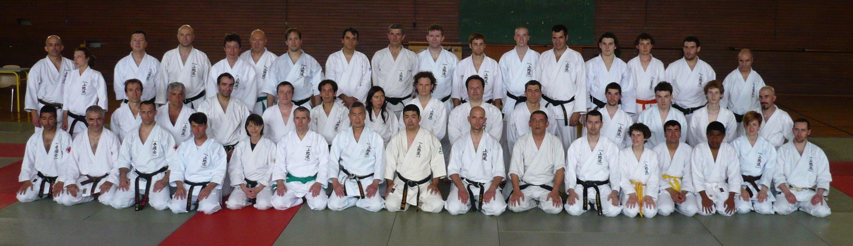 Stage de Karaté dirigé par Maître Haruyoshi Shimabukuro le 15 mai 2010