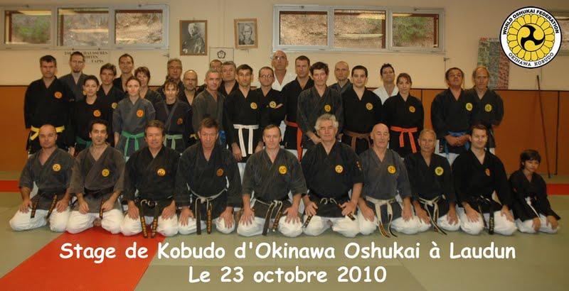 Stage de kobudo dirigé par Maurice Roggero (8ème DAN) à Laudun le 23 octobre 2010