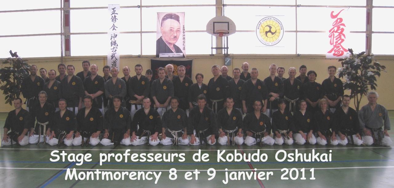 Stage pour professeurs de Kobudo à Montmorency les 8 et 9 janvier 2011