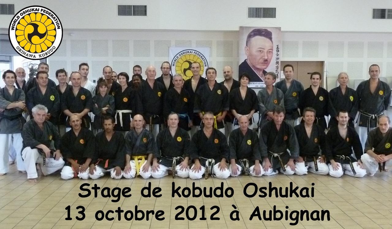 Stage de Kobudo à Aubignan le 13 octobre 2012