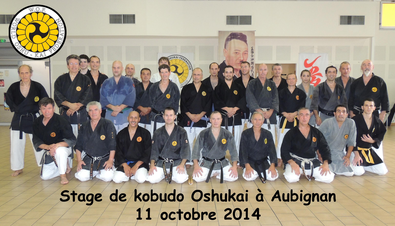 Stage de Kobudo dirigé par Maurice Roggero à Aubignan le 11 octobre 2014