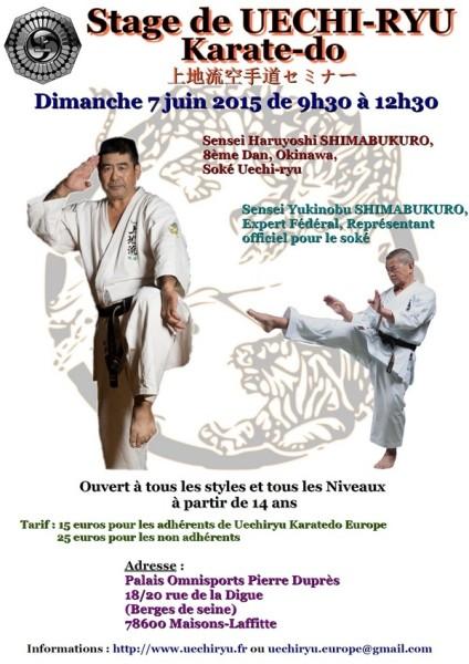 Stage Uechi Ryu le 7 juin 2015