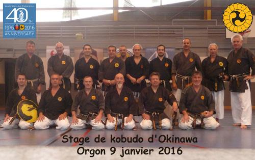 Stage professeurs de Kobudo à Orgon le 9 janvier 2016