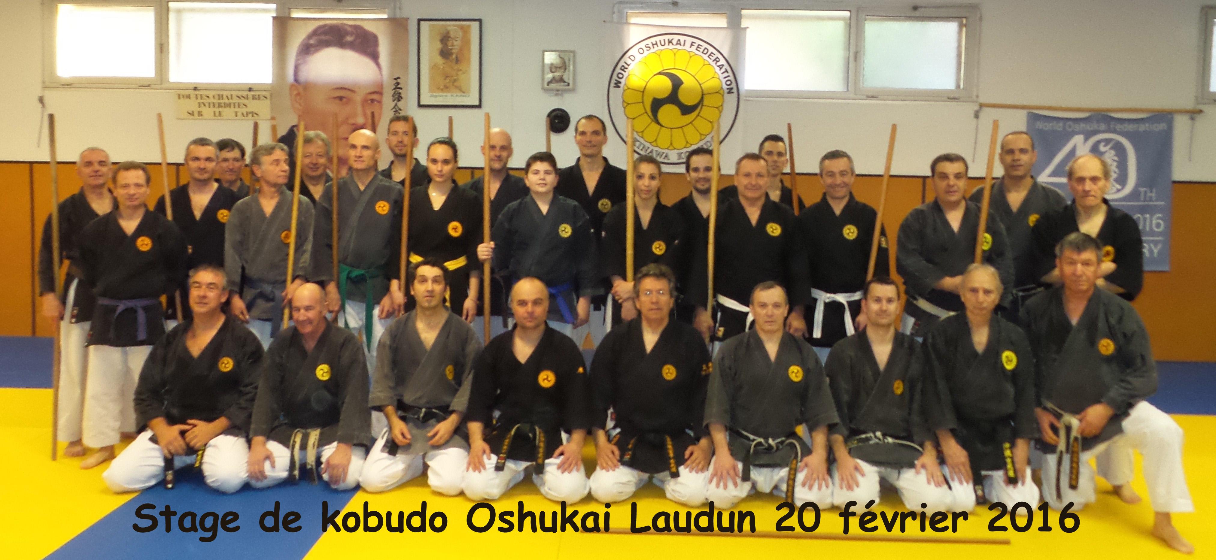 Stage kobudo du 20 février 2016 à Laudun