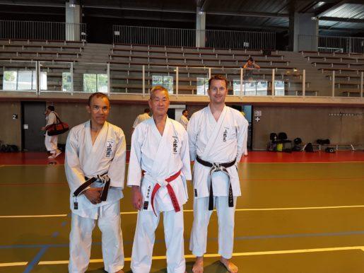 Mourougane, Senseï Shimabukuro et Frédéric