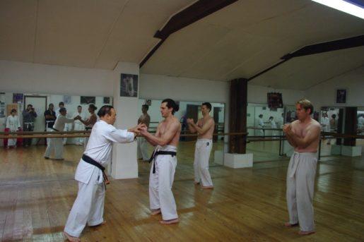 contrôles sur le kata Sanchin