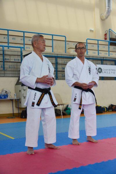 les maîtres Shimabukuro et Uechi