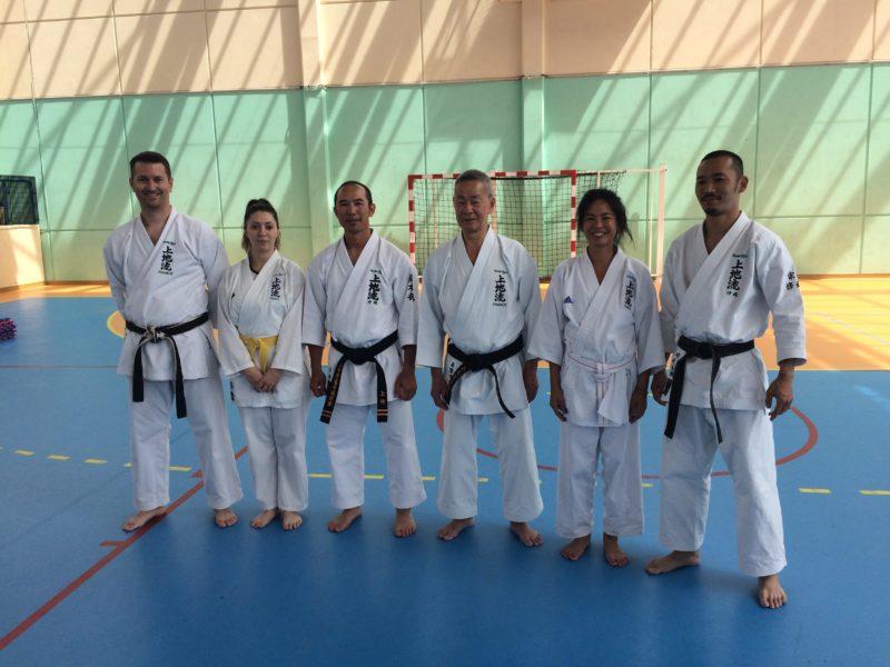 Frédéric, Magali, Kansho Uechi, Yukinobu Shimabukuro, Linda, Haruki Kawasaki