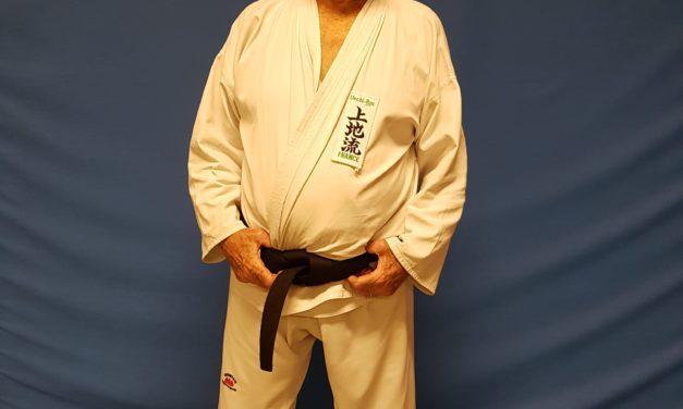 Jean-Marc reçu au grade de ceinture noire 1er Dan de Karaté à 84 ans