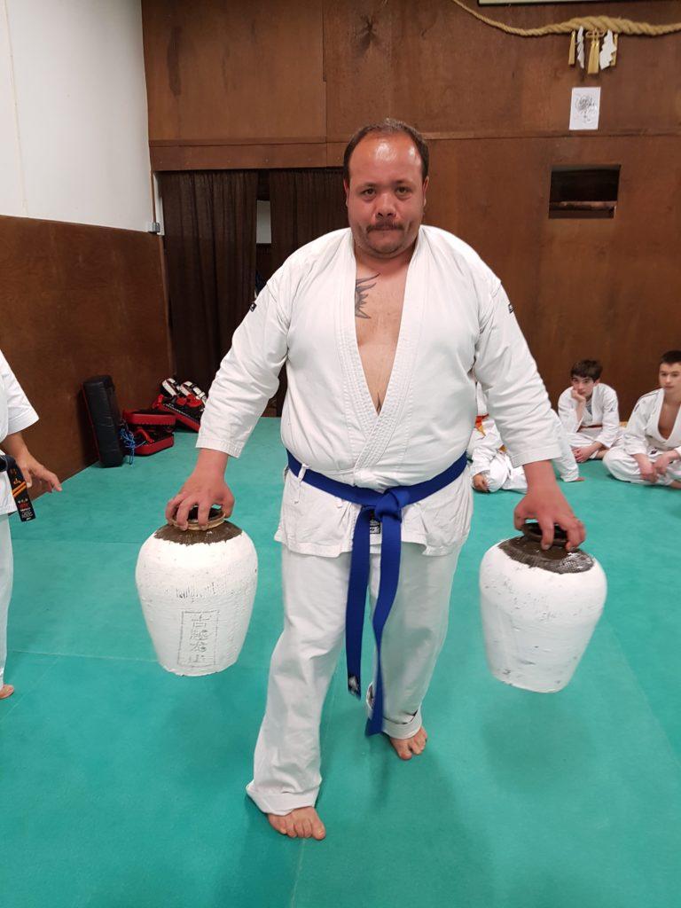 Pierre-Cédric avec les Nigiri Game (jarres)