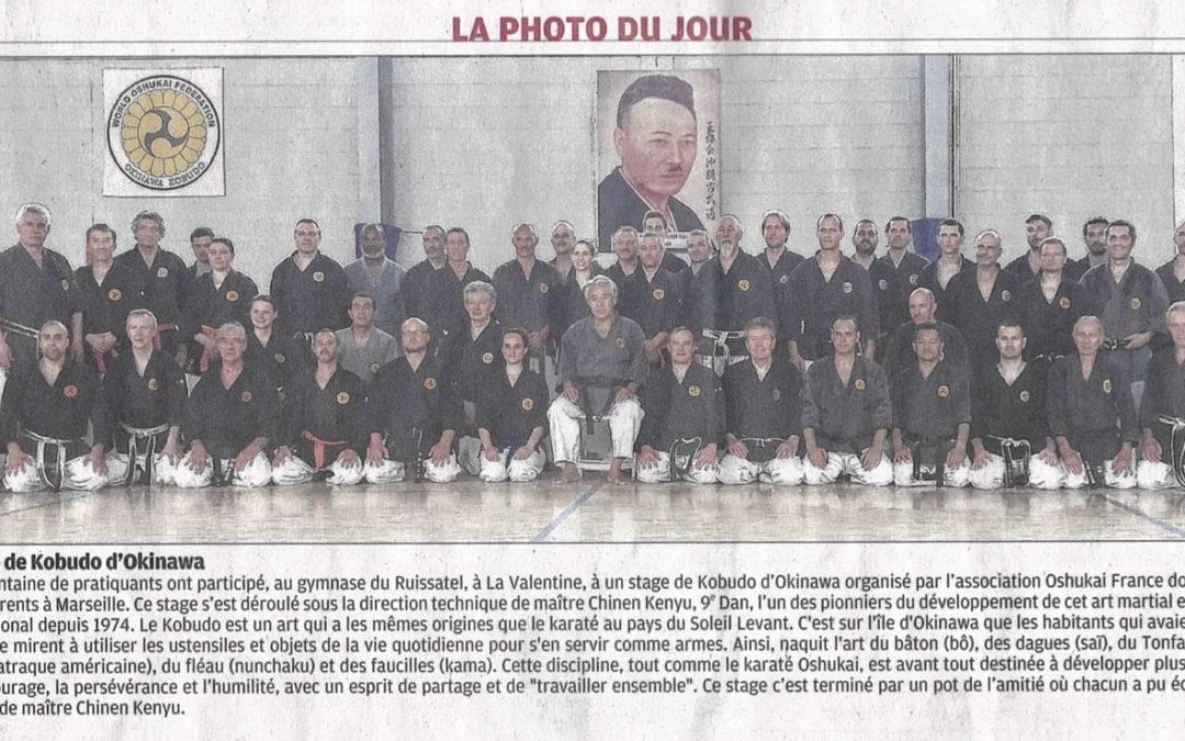 Stage de Kobudo avec Senseï Chinen à Marseille les 26 et 27 mai 2018