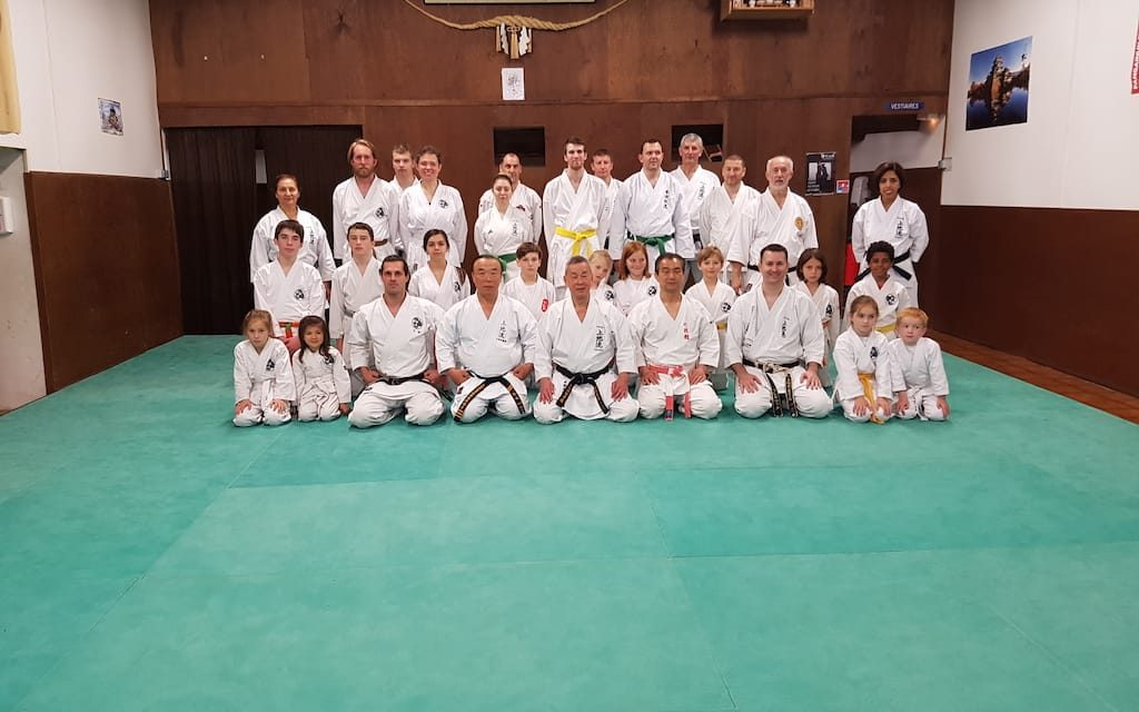 Stage de Karaté avec les maîtres japonais Shimabukuro, Murayama et Yamamoto
